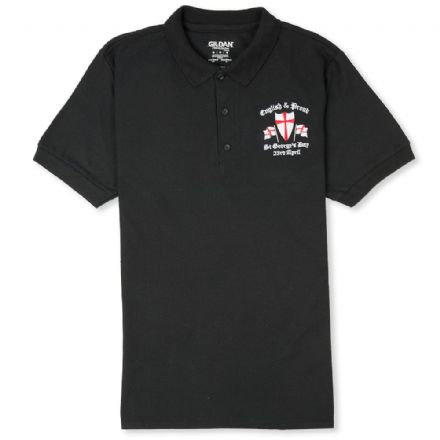 English and Proud Polo Shirt - Black